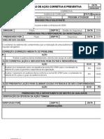 Modelo de registro de ação corretiva ISO 27001