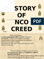 History of NCO Creed