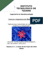Aplicaciones Industriales de Ceramicos a Nanoescala