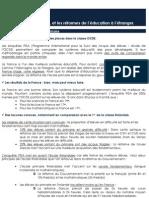 La France et les réformes de l'éducation à l'étranger - Pôle Etudes des Jeunes de l'UMP - www.jeunesump.fr
