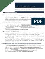 La réforme Du métier d'Enseignant - Pôle Etudes des Jeunes de l'UMP - www.jeunesump.fr