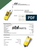 Folder Controle STD-8 Comandos