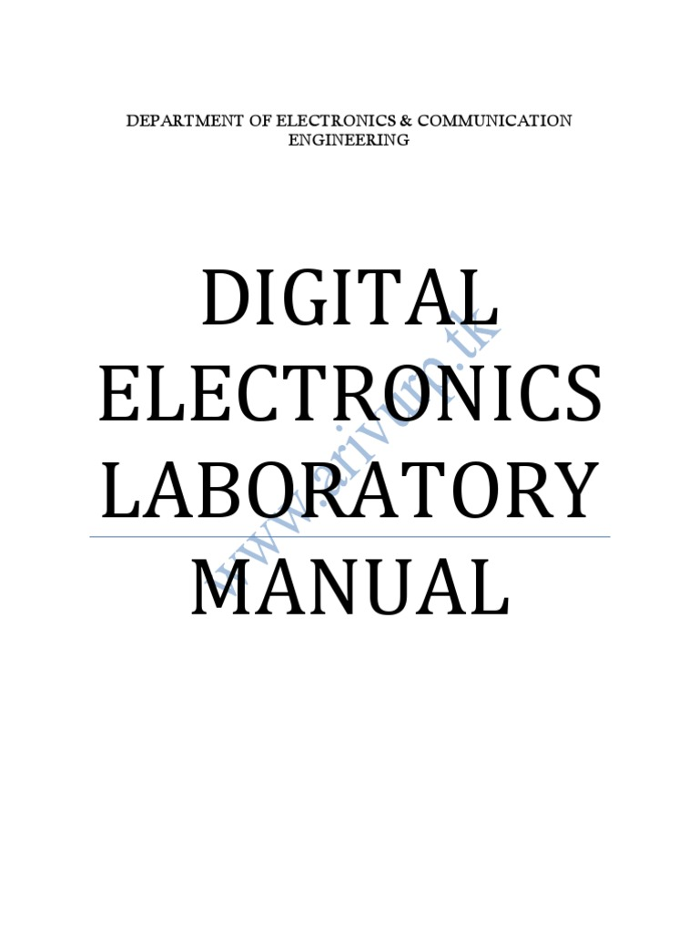 Digital Electronics Lab Manual Electronic Circuits Binary Coded Systems Simulation Of 4bit Full Adder Circuit In Verilog Hdl Decimal
