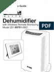 Sears Dehumidifier Manual