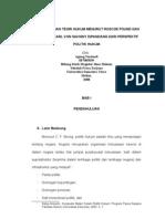 Perbandingan Teori Hukum Menurut Roscoe Pound & Friedrich Karl Von Savigny Dipandang Dari Perspektif Politik Hukum_Agung Yuriandi