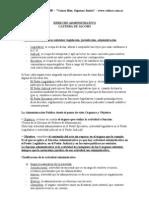 Derecho Administrativo (Instituciones y Especial)