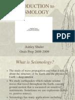 Seismology Orals