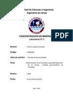 Arturo Lozada -Lab.3 Concentracion de Minerales