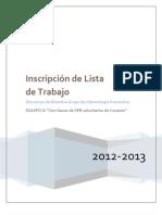 Plan de trabajo LISTA G