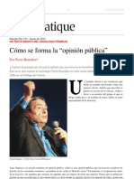 Como se forma la opinion pública (Texto inédito) - Pierre Bourdieu