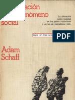 La Alienacion Como Fenomeno Social- Adam Schaff