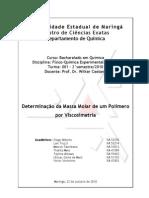 Pr-Relatrio - Determinao Da Massa Molar de Um Polmero Por Viscosimetria