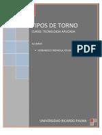 Torno - Concepto Clasificación y Aplicaciones