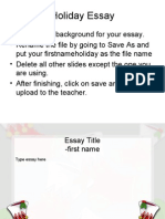 Favorite Holiday Essay