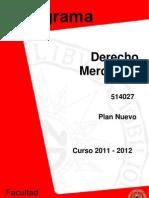 Programaderecho Mercantil i (Plan Nuevo) 2011