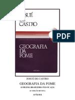 GEOGRAFIA DA FOME- JOSUÉ DE CASTRO