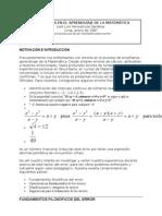Errores en El Aprendizaje de La Matematica
