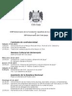 Programa de Aniversario del Club Jauja 2012