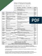 Calendario Semestral Enero Mayo 2012