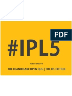 The Chandigarh Open Quiz | The IPL Edition