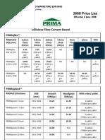 PRIMA Price List (Local Market) Effective June 6 2008