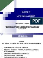 Unidad IV LA TECNICA JURÍDICA