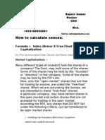 Calculation of Sensex