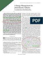 Online EnerMana for HEV (IEEE Trans,Model,DP,Solution)