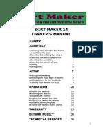 Dirt Maker 14 Manual