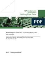 Walkability and Pedestrian Facilities in Asian Cities State and Issues