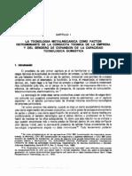 La Tecnología Metalmecánica como factor determinante de la conducta técnica de la empresa y del sendero de expansión de la capacidad tecnológica doméstica