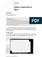 Aplikasi Tempat Kursus Dengan Delphi 7