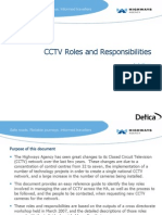 CCTV Roles and Responsibilities