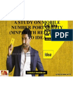 A Study on Mobile Number Portability (Mnp (2)
