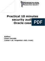 Practical 10 minute security audit - Oracle case