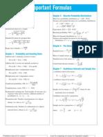 Important Formulas