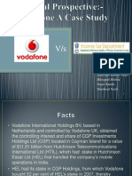Legal Provision-A Case Study of Vodafone