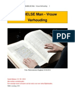 BIJBELSE Man - Vrouw Verhouding