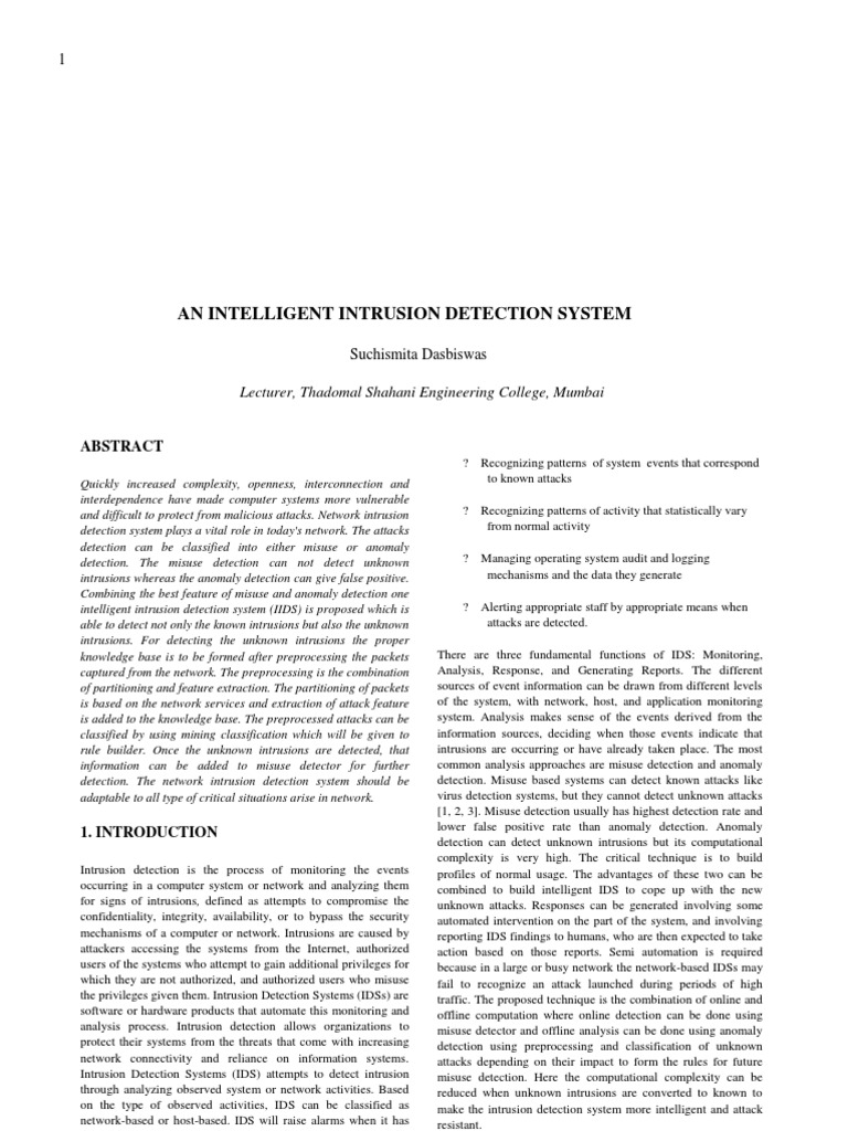An intelligent intrusion detection system systems engineering an intelligent intrusion detection system systems engineering technology fandeluxe Images