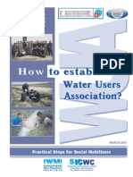 How to Establish a Water Users Association