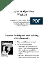 Yazici Kalkan AlgorithmAnalysis 2011 Week2a