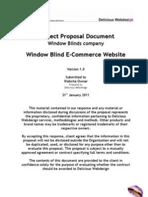 Scope Proposal Ecommerce Website | Web Design | Websites