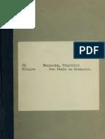 Von Stein Zu Bismarck (Pamphlet by F Meinecke)