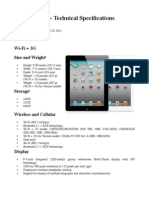 Pad 2 - Technical Specifications