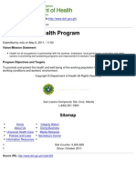 Copy of Department of Health - Occupational Health Program - 2011-10-19