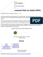 Copy of Department of Health - Province-Wide Investment Plan for Health (PIPH) - 2011-10-19