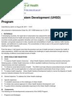 Copy of Department of Health - Urban Health System Development (UHSD) Program - 2011-12-19