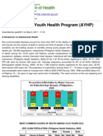 Department of Health - Adolescent and Youth Health Program (AYHP) - 2011-10-27