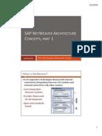 02--SAP NetWeaver Architecture, Part 1