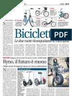 Su Leggo Milano si parla di Eco Bike